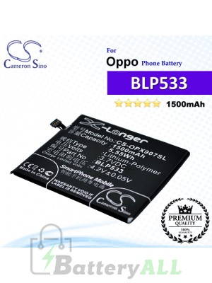 CS-OPX907SL For Oppo Phone Battery Model BLP533