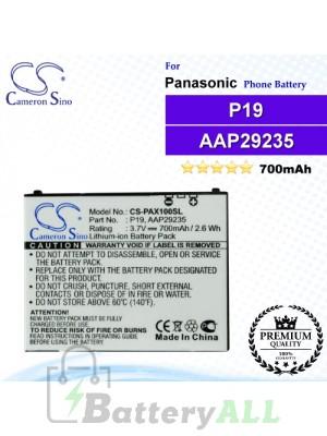 CS-PAX100SL For Panasonic Phone Battery Model P19 / AAP29235