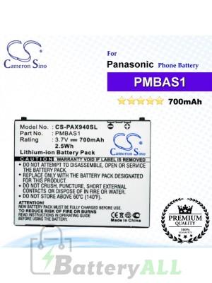 CS-PAX940SL For Panasonic Phone Battery Model PMBAS1