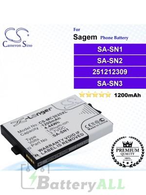 CS-MC3020XL For Sagem Phone Battery Model SA-SN1 / SA-SN2 / 251212309 / SA-SN3