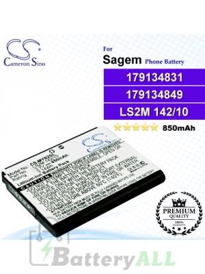 CS-MYS2SL For Sagem Phone Battery Model LS2M 142/10 / 179134831 / 179134849