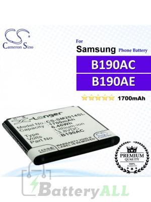 CS-SM2014SL For Samsung Phone Battery Model B190AC / B190AE