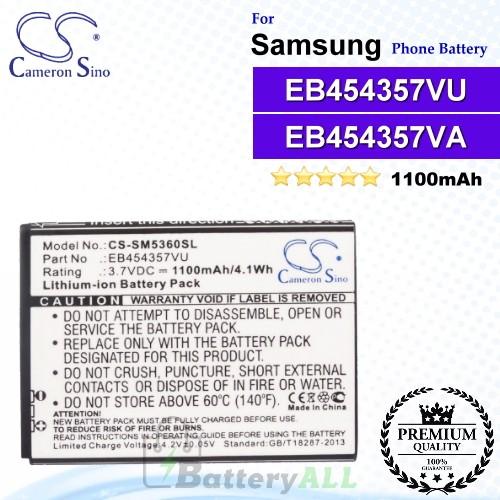 CS-SM5360SL For Samsung Phone Battery Model EB454357VU / EB454357VA