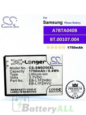 CS-SM9250XL For Samsung Phone Battery Model EB-L1F2HBU / EB-L1F2HVU / EB-L1F2KVK