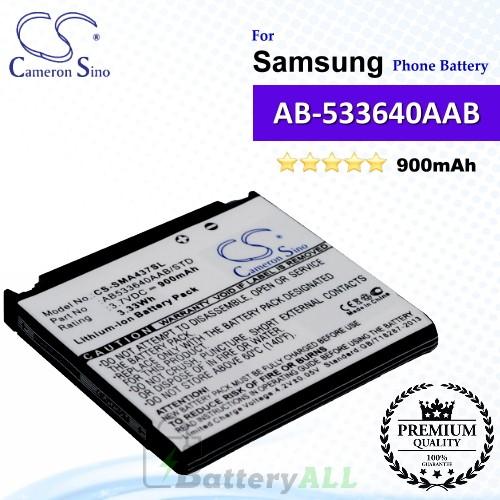 CS-SMA437SL For Samsung Phone Battery Model AB533640AA / AB533640AAB / AB533640AAB/STD