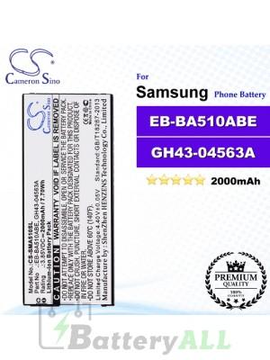 CS-SMA510SL For Samsung Phone Battery Model EB-BA510ABE / GH43-04563A