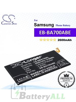 CS-SMA700SL For Samsung Phone Battery Model EB-BA700ABE / GH43-04340A