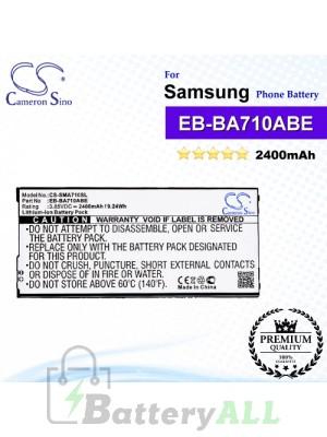 CS-SMA710SL For Samsung Phone Battery Model EB-BA710ABE