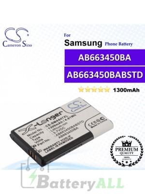 CS-SMA847XL For Samsung Phone Battery Model AB663450BA / AB663450BABSTD