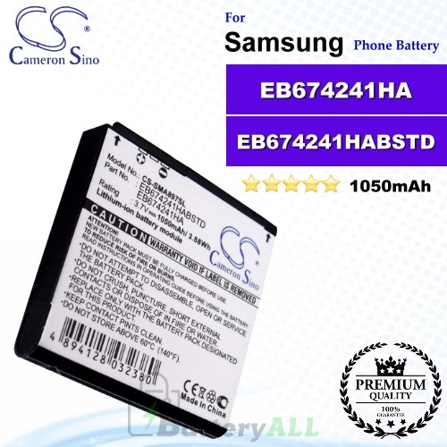 CS-SMA897SL For Samsung Phone Battery Model EB674241HA / EB674241HABSTD