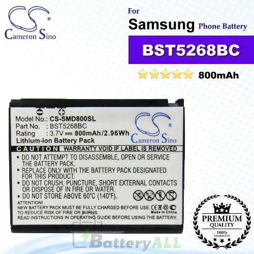 CS-SMD800SL For Samsung Phone Battery Model BST5268BC