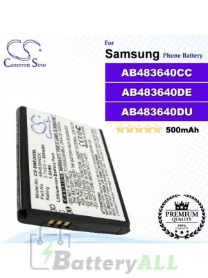 CS-SME200SL For Samsung Phone Battery Model AB483640DE / AB483640DU / AB483640CC