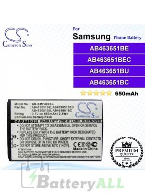 CS-SMF400SL For Samsung Phone Battery Model AB463651BE / AB463651BEC / AB463651BU / AB463651BC
