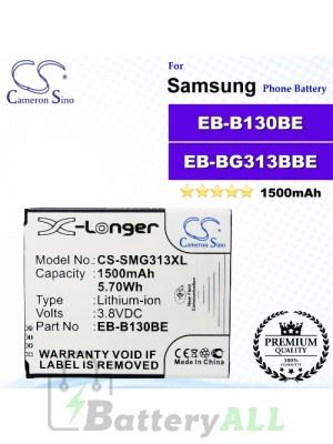 CS-SMG313XL For Samsung Phone Battery Model EB-B130BE / EB-BG313BBE / GH43-04256A