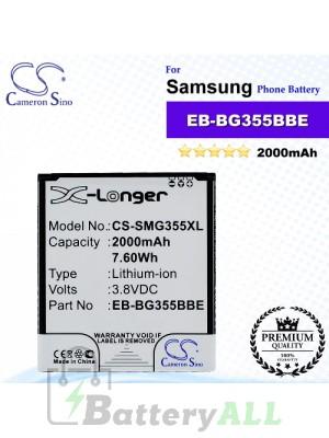 CS-SMG355XL For Samsung Phone Battery Model EB-BG355BBE