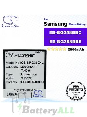 CS-SMG360XL For Samsung Phone Battery Model EB-BG358BBC / EB-BG358BBE
