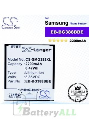 CS-SMG388XL For Samsung Phone Battery Model EB-BG388BBE / EB-BG388BBECWW / GH43-04433A