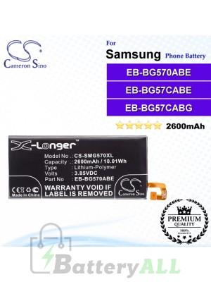 CS-SMG570XL For Samsung Phone Battery Model EB-BG570ABE / EB-BG57CABE / EB-BG57CABG