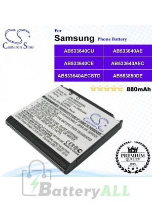 CS-SMG600SL For Samsung Phone Battery Model AB533640CU / AB533640AE / AB533640CE / AB533640AEC / AB533640AECSTD / AB563850DE