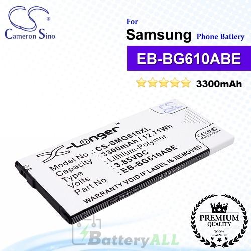 CS-SMG610XL For Samsung Phone Battery Model EB-BG610ABE