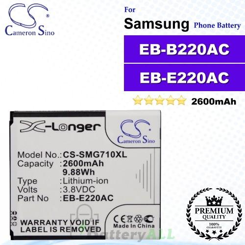 CS-SMG710XL For Samsung Phone Battery Model EB665468LU / EB-B220AC