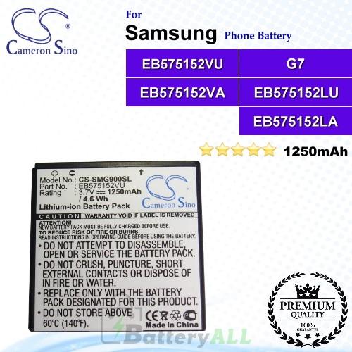 CS-SMG900SL For Samsung Phone Battery Model EB575152LA / EB575152LU / EB575152VA / EB575152VU / G7