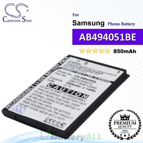 CS-SMI450SL For Samsung Phone Battery Model AB494051BE