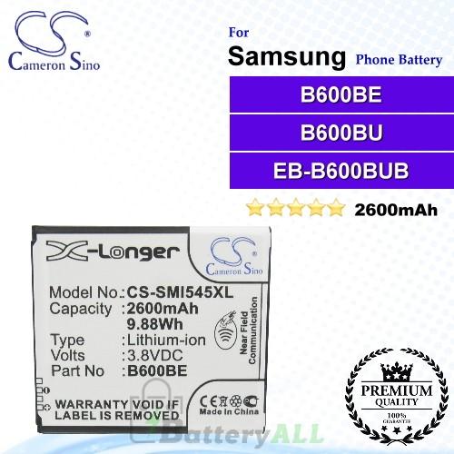 CS-SMI545XL For Samsung Phone Battery Model B600BC / B600BE / B600BU / EB485760LU / EB-B600BUB / EB-B600BUBESTA