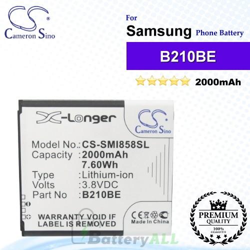 CS-SMI858SL For Samsung Phone Battery Model B210BC / B210BE / B210BU