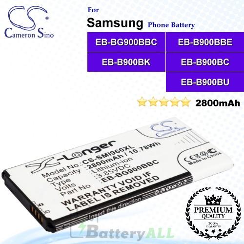 CS-SMI960XL For Samsung Phone Battery Model EB-BG900BBC / EB-B900BBE / EB-B900BK / EB-B900BC / EB-B900BU