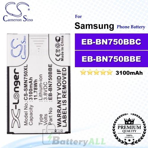 CS-SMN750XL For Samsung Phone Battery Model EB-BN750BBE / EB-BN750BBC