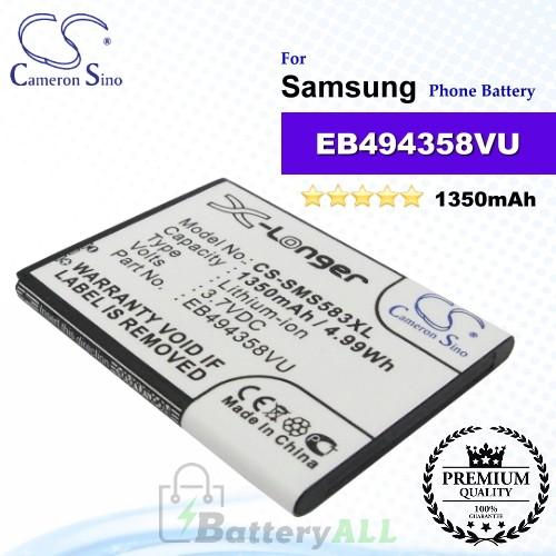 CS-SMS583XL For Samsung Phone Battery Model EB494358VU