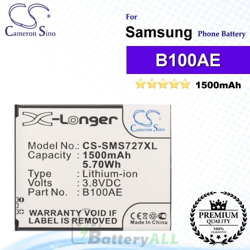 CS-SMS727XL For Samsung Phone Battery Model B100AE / EB-B100AE / GH43-03948B