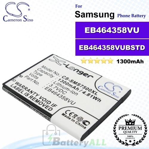 CS-SMS7500XL For Samsung Phone Battery Model EB464358VU / EB464358VUBSTD