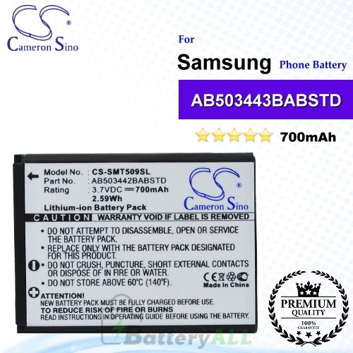 CS-SMT509SL For Samsung Phone Battery Model AB503442BA / AB503442BABSTD
