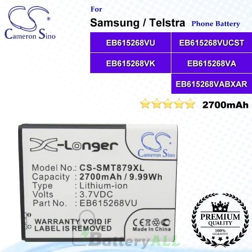 CS-SMT879XL For Samsung Phone Battery Model EB615268VU / EB615268VUCST / EB615268VK / EB615268VA / EB615268VABXAR