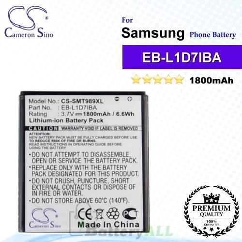 CS-SMT989XL For Samsung Phone Battery Model EB-L1D7IBA