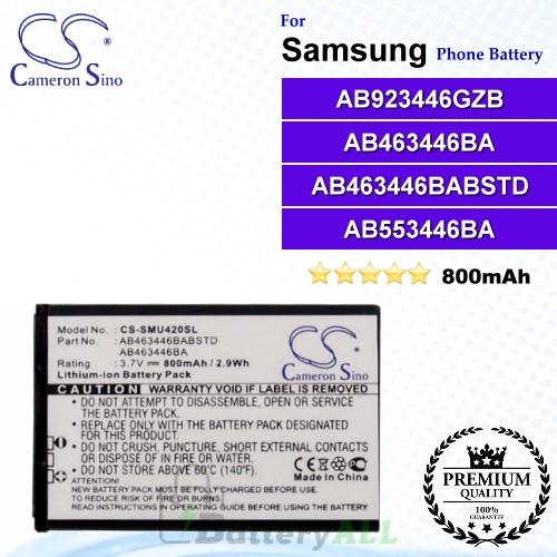 CS-SMU420SL For Samsung Phone Battery Model AB923446GZB / AB463446BA / AB463446BABSTD / AB553446BA