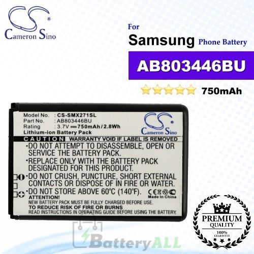CS-SMX271SL For Samsung Phone Battery Model AB803446BA / AB803446BU