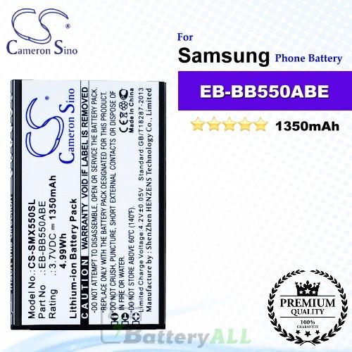 CS-SMX550SL For Samsung Phone Battery Model EB-BB550ABE
