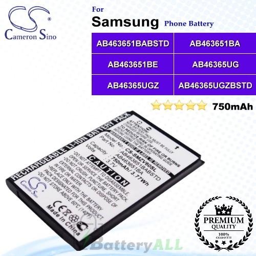 CS-SMZV60SL For Samsung Phone Battery Model AB463651BA / AB463651BABSTD / AB463651BE / AB46365UG