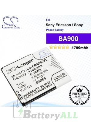 CS-ERA900XL For Sony Ericsson / Sony Phone Battery Model BA900