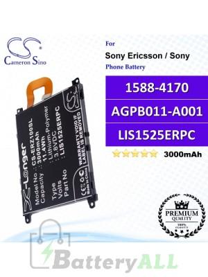 CS-ERZ100SL For Sony Ericsson / Sony Phone Battery Model 1588-4170 / AGPB011-A001 / LIS1525ERPC
