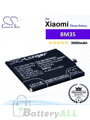 CS-MUM350SL For Xiaomi Phone Battery Model BM35