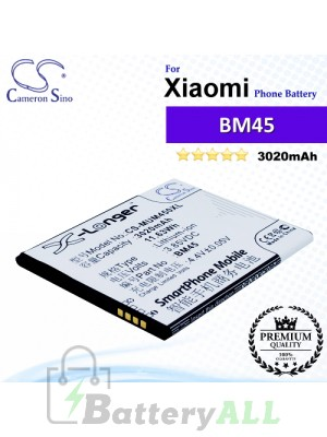 CS-MUM450XL For Xiaomi Phone Battery Model BM45