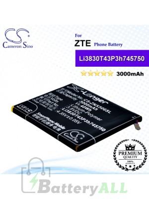 CS-ZNX506SL For ZTE Phone Battery Model Li3830T43P3h745750