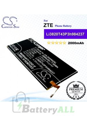 CS-ZNX902SL For ZTE Phone Battery Model Li3820T43P3h984237
