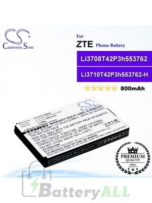 CS-ZTC180SL For ZTE Phone Battery Model Li3708T42P3h553762 / Li3708T42P3h553762-H
