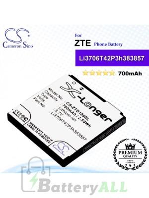CS-ZTD180SL For ZTE Phone Battery Model Li3706T42P3h383857