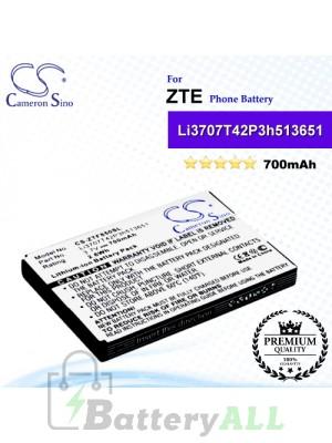 CS-ZTF850SL For ZTE Phone Battery Model Li3707T42P3h513651